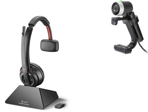 Poly at the desk solution telehealth